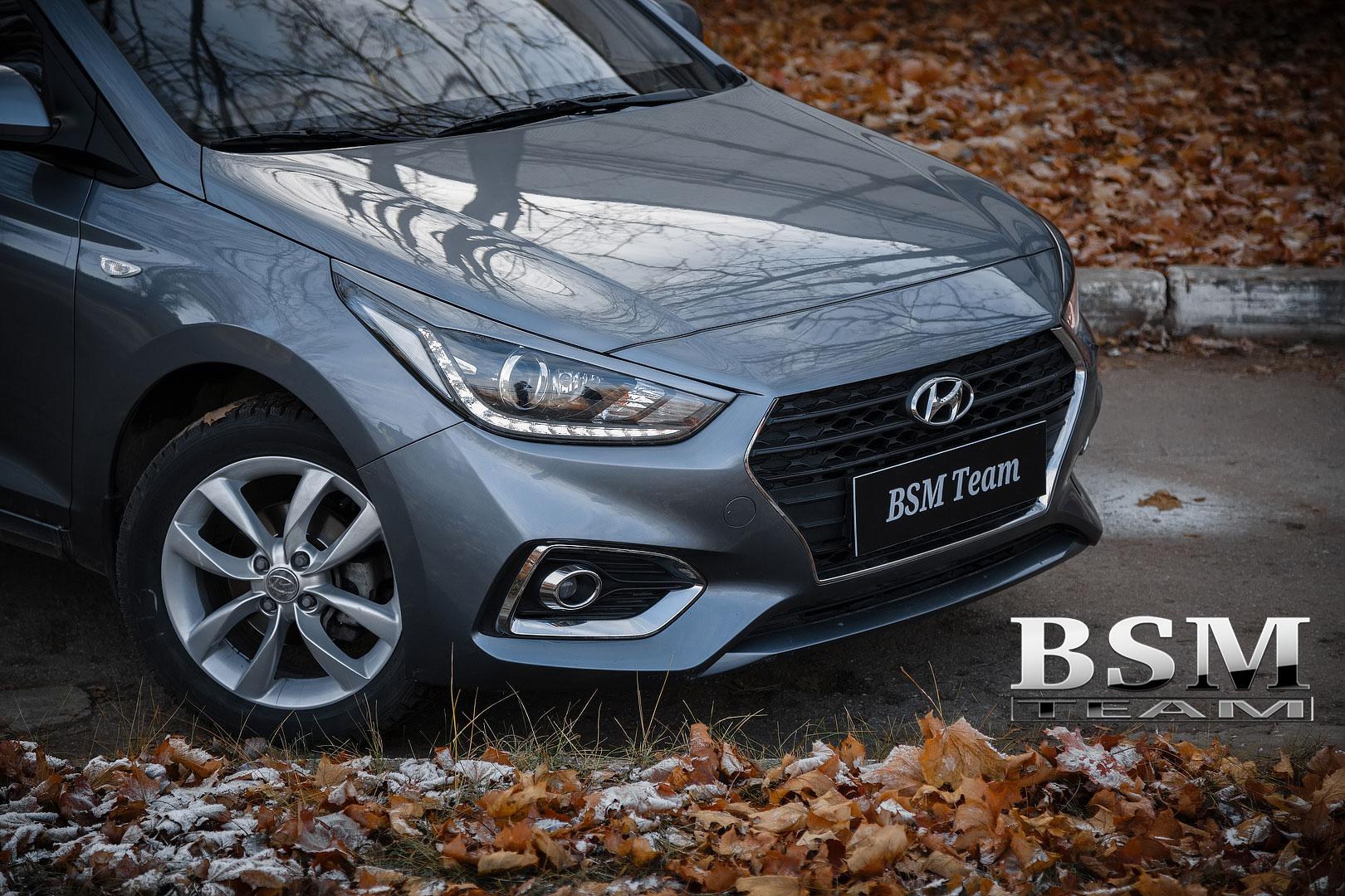 Ресницы узкие для Hyundai Solaris 2