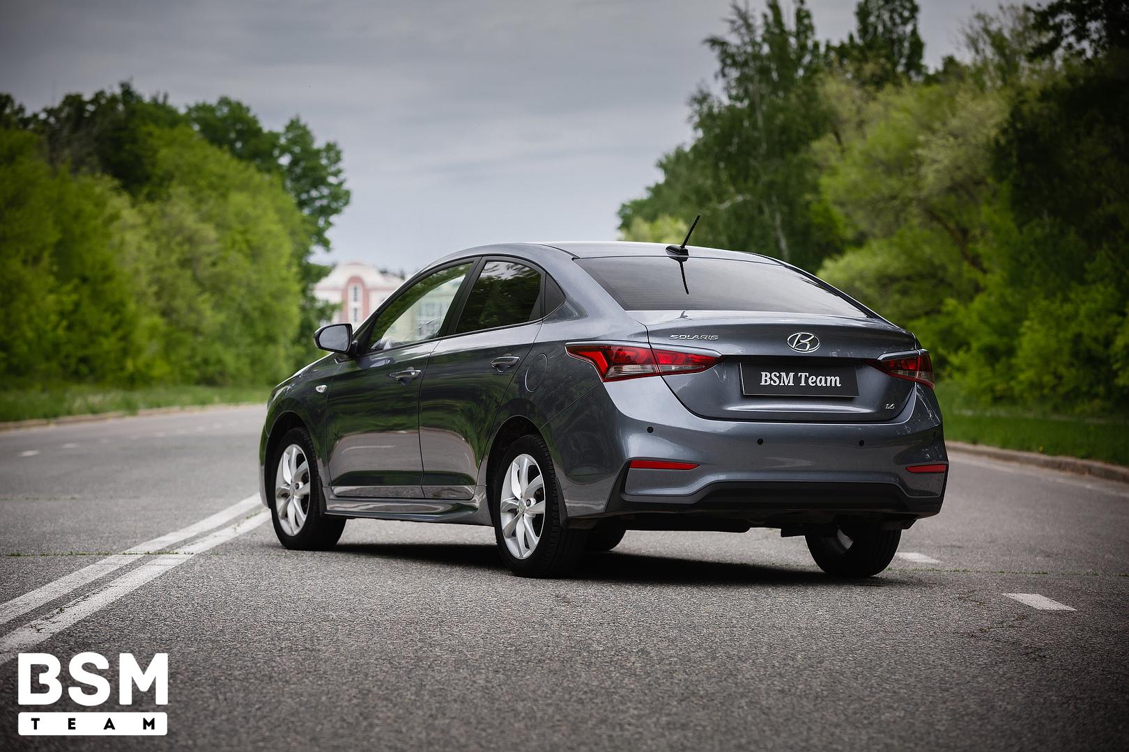 Пороги до брызговиков для Hyundai Solaris 2