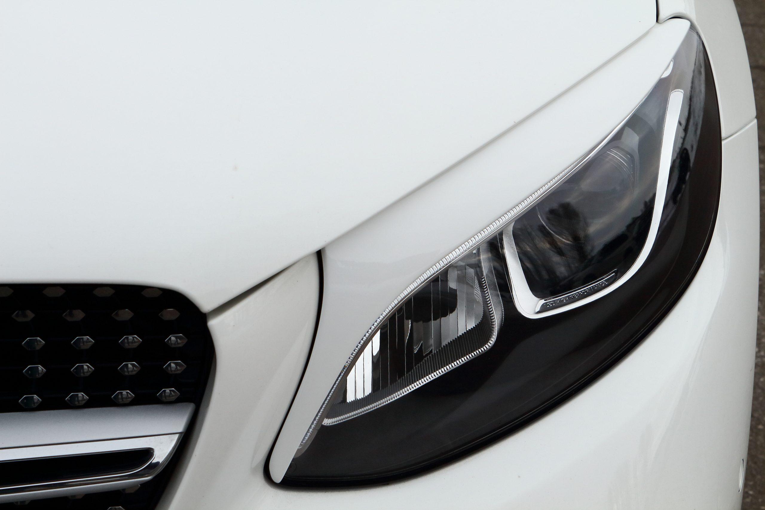 Реснички (накладки) на передние фары Mercedes-Benz GLC coupe