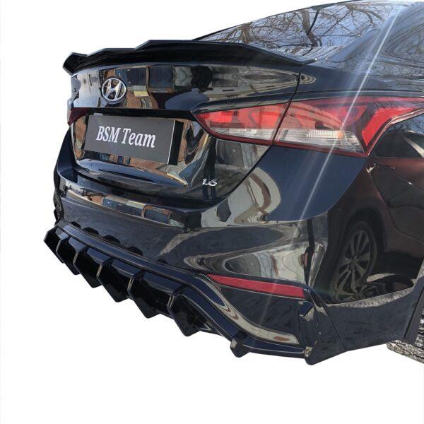Диффузор Заднего Бампера Hyundai Solaris 2 2017-2020