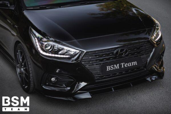 сплиттер бампера Hyundai Solaris 2 (5)